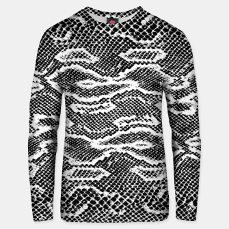 Snake Skin Black and White Unisex sweater obraz miniatury