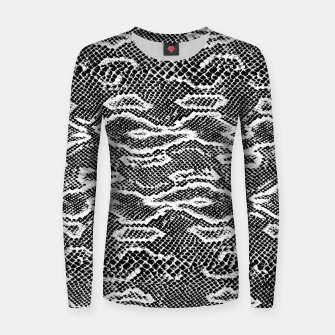 Snake Skin Black and White Women sweater obraz miniatury