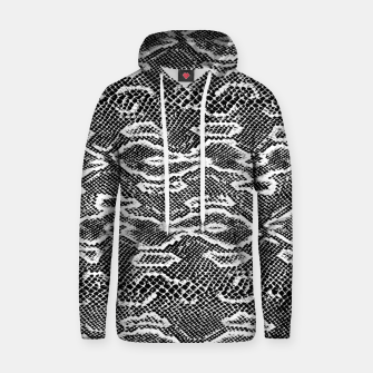 Snake Skin Black and White Hoodie obraz miniatury