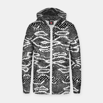 Snake Skin Black and White Zip up hoodie obraz miniatury