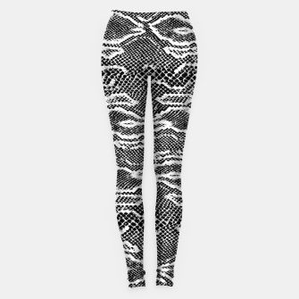 Thumbnail image of Snake Skin Black and White Leggings, Live Heroes