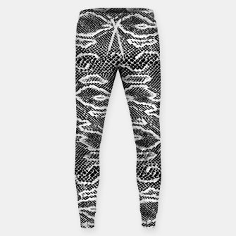 Snake Skin Black and White Sweatpants obraz miniatury