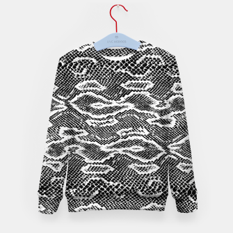 Snake Skin Black and White Kid's sweater obraz miniatury