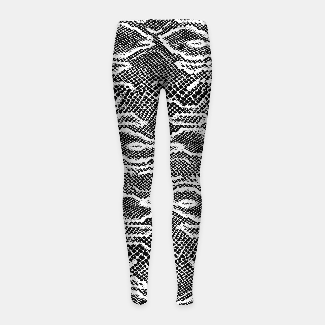 Image of Snake Skin Black and White Girl's leggings - Live Heroes
