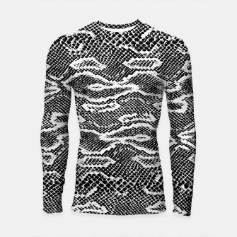 Thumbnail image of Snake Skin Black and White Longsleeve rashguard , Live Heroes