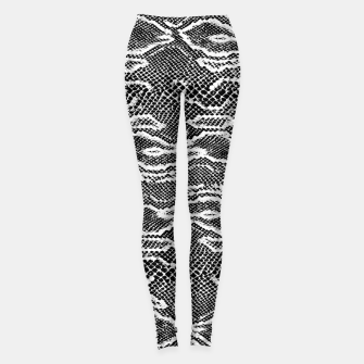 Snake Skin Black and White Leggings obraz miniatury