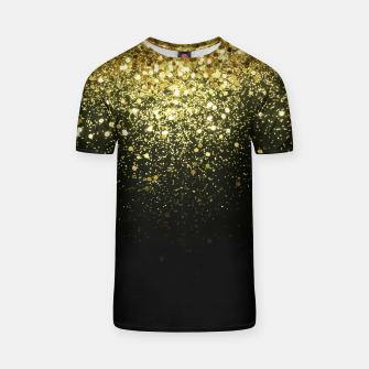 Miniature de image de Sparkling Gold Glitter Glam #1 #shiny #decor #art  T-Shirt, Live Heroes