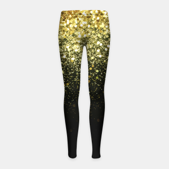 Miniature de image de Sparkling Gold Glitter Glam #1 #shiny #decor #art  Kinder-Leggins, Live Heroes