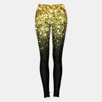 Miniaturka Sparkling Gold Glitter Glam #1 #shiny #decor #art  Leggings, Live Heroes