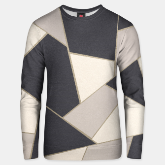 Miniatur Neutral Gold Geometric Glam #1 #geo #decor #art Unisex sweatshirt, Live Heroes