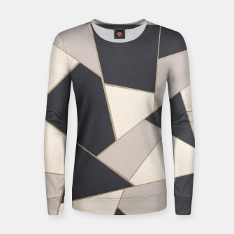 Miniature de image de Neutral Gold Geometric Glam #1 #geo #decor #art Frauen sweatshirt, Live Heroes