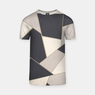 Miniaturka Neutral Gold Geometric Glam #1 #geo #decor #art T-Shirt, Live Heroes