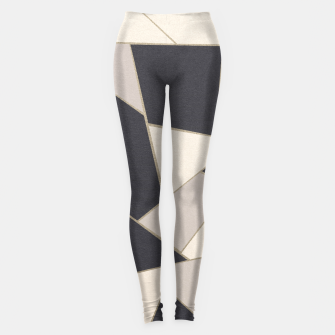 Miniature de image de Neutral Gold Geometric Glam #1 #geo #decor #art Leggings, Live Heroes