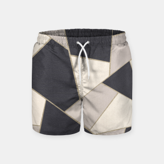 Miniature de image de Neutral Gold Geometric Glam #1 #geo #decor #art Badeshorts, Live Heroes