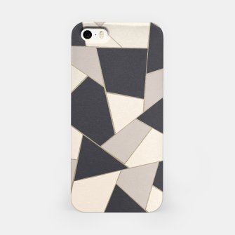 Miniaturka Neutral Gold Geometric Glam #1 #geo #decor #art iPhone-Hülle, Live Heroes