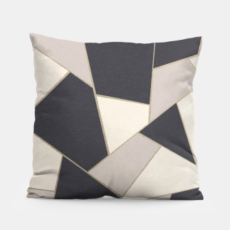 Miniaturka Neutral Gold Geometric Glam #1 #geo #decor #art Kissen, Live Heroes