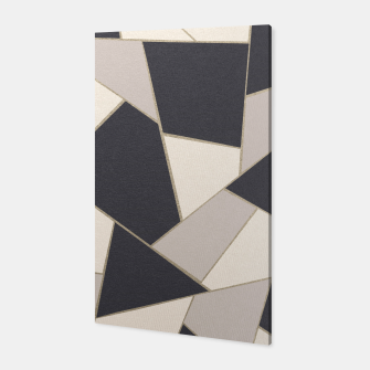 Miniaturka Neutral Gold Geometric Glam #1 #geo #decor #art Canvas, Live Heroes