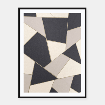 Miniature de image de Neutral Gold Geometric Glam #1 #geo #decor #art Plakat mit rahmen, Live Heroes