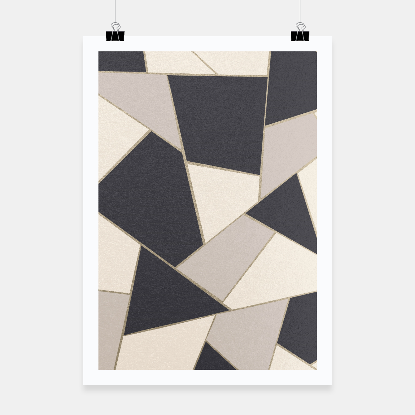 Image of Neutral Gold Geometric Glam #1 #geo #decor #art Plakat - Live Heroes