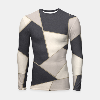 Miniaturka Neutral Gold Geometric Glam #1 #geo #decor #art Longsleeve rashguard, Live Heroes