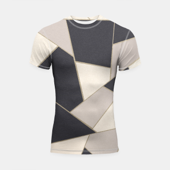 Miniaturka Neutral Gold Geometric Glam #1 #geo #decor #art Shortsleeve rashguard, Live Heroes
