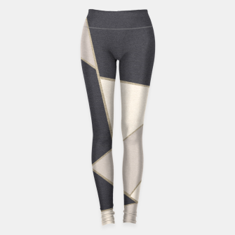 Miniaturka Neutral Gold Geometric Glam #1 #geo #decor #art Leggings, Live Heroes