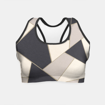 Miniature de image de Neutral Gold Geometric Glam #1 #geo #decor #art Crop Top, Live Heroes