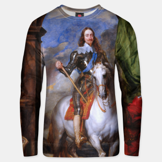Thumbnail image of Charles I with riding master M. de St Antoine by Anthony van Dyck Unisex sweater, Live Heroes