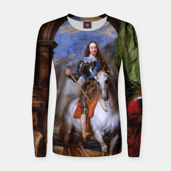 Thumbnail image of Charles I with riding master M. de St Antoine by Anthony van Dyck Women sweater, Live Heroes
