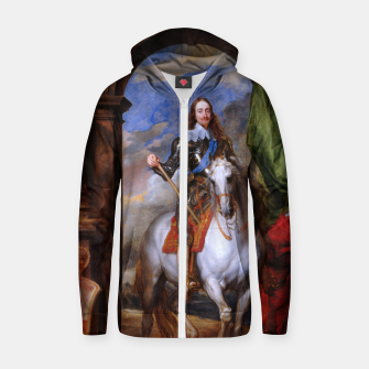 Thumbnail image of Charles I with riding master M. de St Antoine by Anthony van Dyck Zip up hoodie, Live Heroes