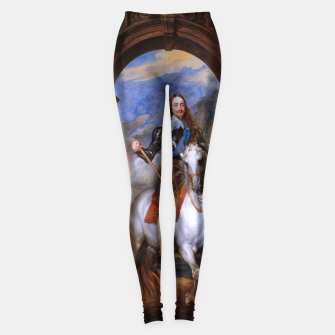 Thumbnail image of Charles I with riding master M. de St Antoine by Anthony van Dyck Leggings, Live Heroes