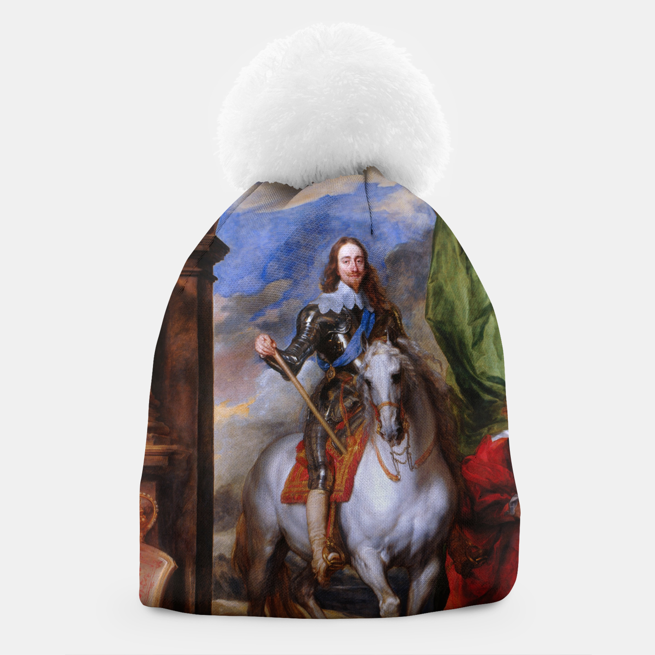 Image of Charles I with riding master M. de St Antoine by Anthony van Dyck Beanie - Live Heroes