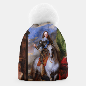 Thumbnail image of Charles I with riding master M. de St Antoine by Anthony van Dyck Beanie, Live Heroes