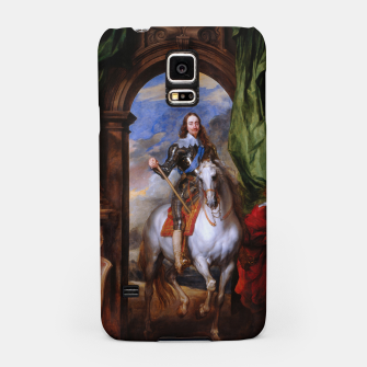 Thumbnail image of Charles I with riding master M. de St Antoine by Anthony van Dyck Samsung Case, Live Heroes