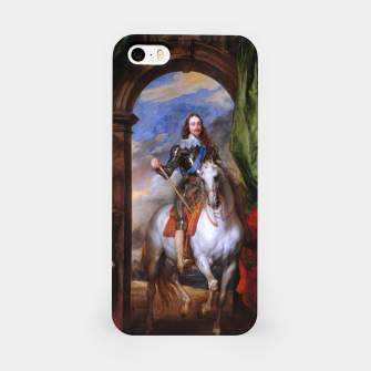 Thumbnail image of Charles I with riding master M. de St Antoine by Anthony van Dyck iPhone Case, Live Heroes