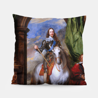 Thumbnail image of Charles I with riding master M. de St Antoine by Anthony van Dyck Pillow, Live Heroes