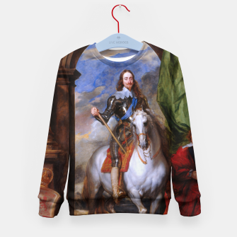 Thumbnail image of Charles I with riding master M. de St Antoine by Anthony van Dyck Kid's sweater, Live Heroes