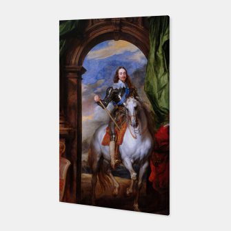 Thumbnail image of Charles I with riding master M. de St Antoine by Anthony van Dyck Canvas, Live Heroes