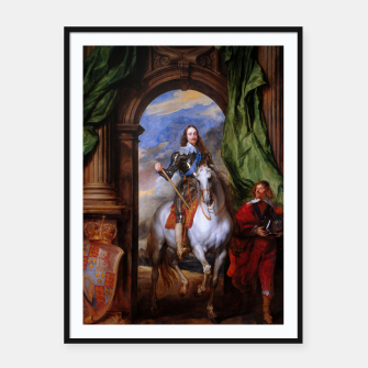 Thumbnail image of Charles I with riding master M. de St Antoine by Anthony van Dyck Framed poster, Live Heroes
