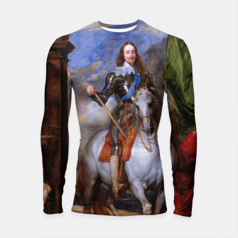 Thumbnail image of Charles I with riding master M. de St Antoine by Anthony van Dyck Longsleeve rashguard , Live Heroes
