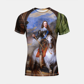 Thumbnail image of Charles I with riding master M. de St Antoine by Anthony van Dyck Shortsleeve rashguard, Live Heroes