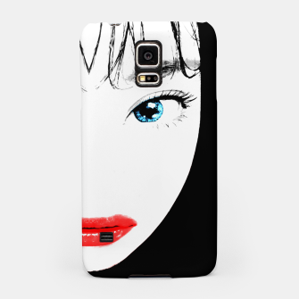 Thumbnail image of Cartoon Style Asian Woman Close Up Portrait Illustration Samsung Case, Live Heroes