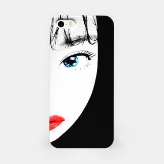 Thumbnail image of Cartoon Style Asian Woman Close Up Portrait Illustration iPhone Case, Live Heroes