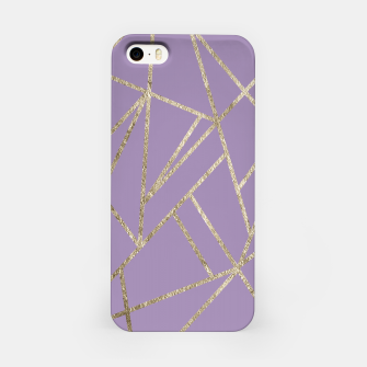Thumbnail image of Classic Lavender Gold Geo #1 #geometric #decor #art iPhone-Hülle, Live Heroes