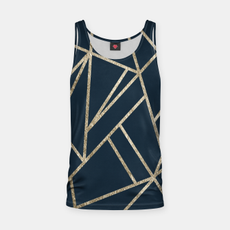 Classic Dark Blue Gold Geo #1 #geometric #decor #art Muskelshirt  obraz miniatury