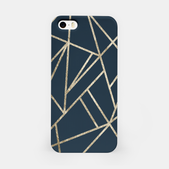 Classic Dark Blue Gold Geo #1 #geometric #decor #art iPhone-Hülle obraz miniatury