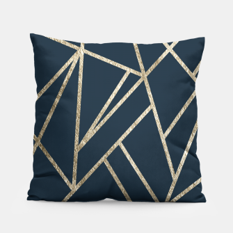 Classic Dark Blue Gold Geo #1 #geometric #decor #art Kissen obraz miniatury