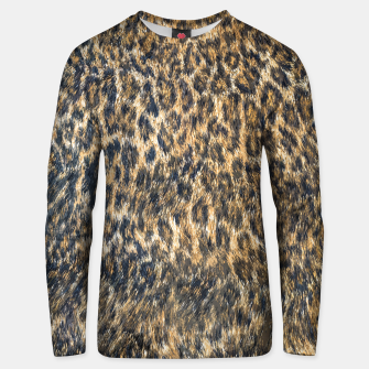 Thumbnail image of Leopard Cheetah Fur Wildlife Print Pattern Unisex sweater, Live Heroes