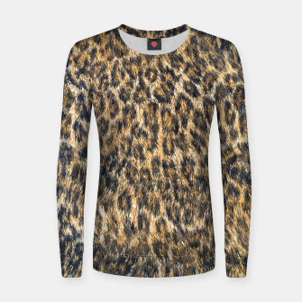 Leopard Cheetah Fur Wildlife Print Pattern Women sweater Bild der Miniatur