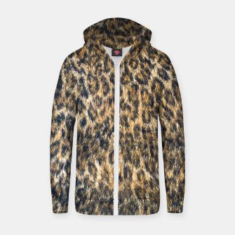 Leopard Cheetah Fur Wildlife Print Pattern Zip up hoodie Bild der Miniatur